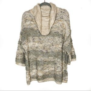 Lucky brand cowl neck wool blend sweater size S